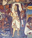 Mexico, Mexico City. Murals inside the National Palace painted by Diego Rivera, Mexico CityThe murals decorate the stairwell and middle storey of the main courtyard and depict Mexican History from the life of Tenochtitlan through to the Spanish Conquest,